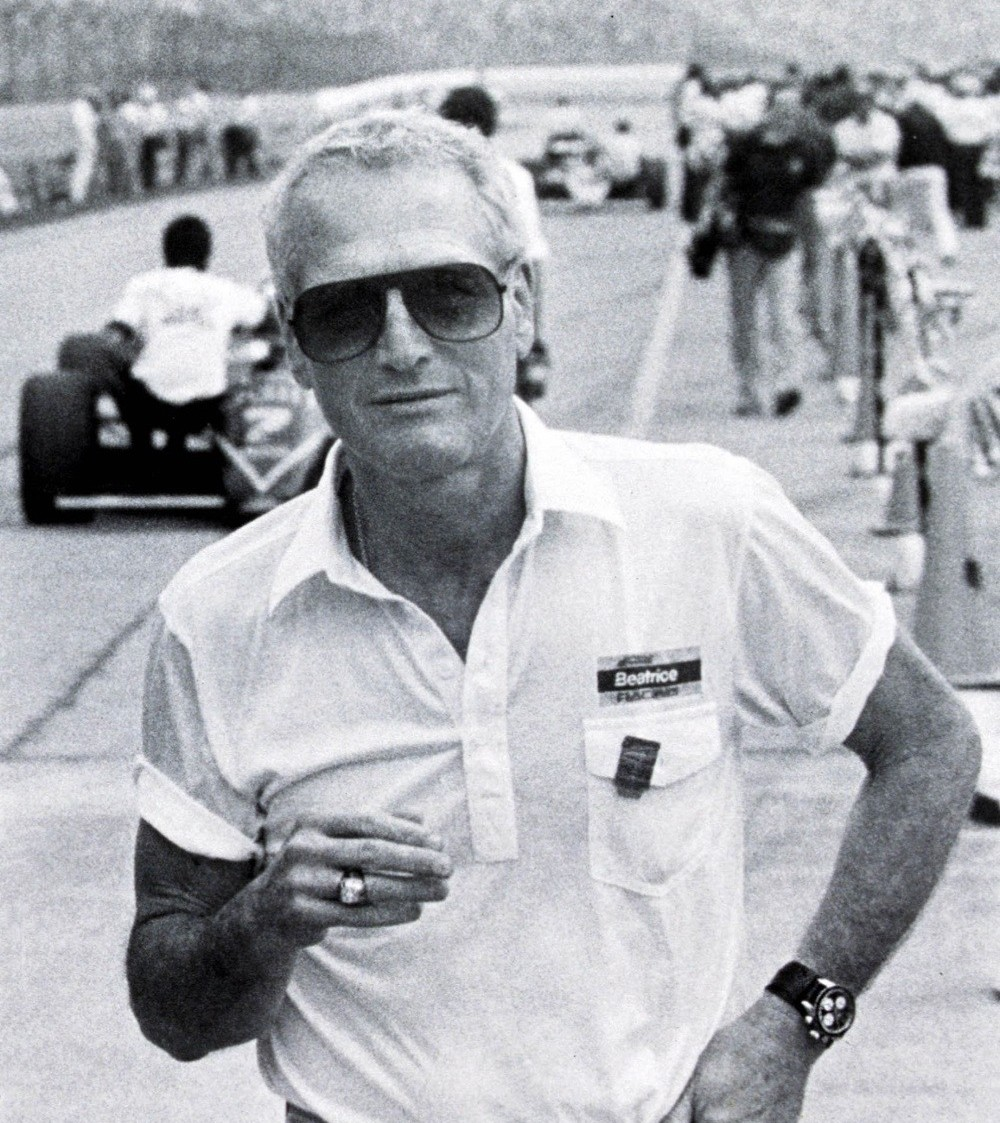 Paul Newman With His Rolex At Daytona